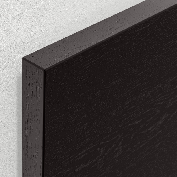 MALM Ottoman bed, black-brown, Full/Double