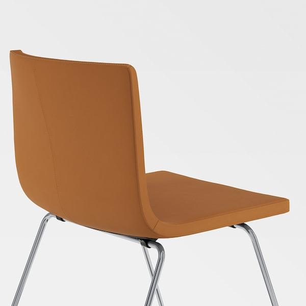 MÖRBYLÅNGA / BERNHARD Table and 4 chairs, oak veneer brown stained/Mjuk golden-brown, 145 cm