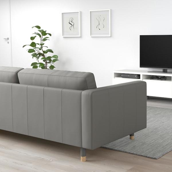 MORABO 2-seat sofa, Grann/Bomstad grey-green/wood