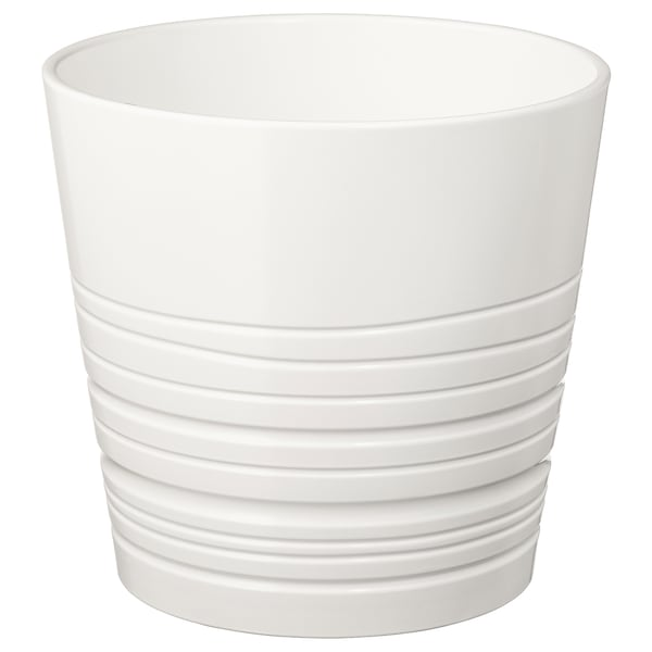 MUSKOT Plant pot, white, 19 cm