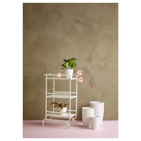 MUSKOT Plant pot, white, 10.5 cm