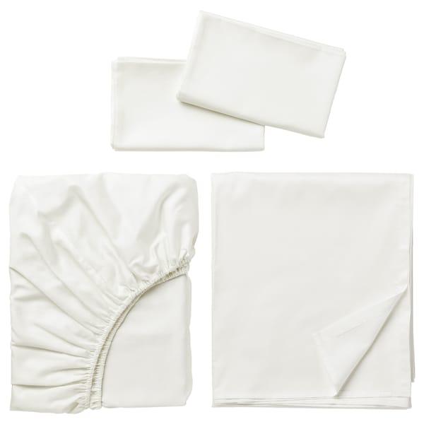 NATTJASMIN Sheet set, white, Queen