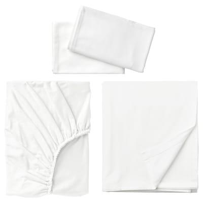 NORDRUTA Sheet set, white, Queen