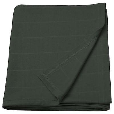 ODDHILD Throw, deep green, 120x170 cm