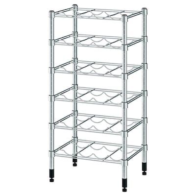 OMAR Bottle shelf, galvanised, 46x36x94 cm