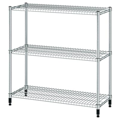 OMAR Shelving unit, galvanised, 92x36x94 cm