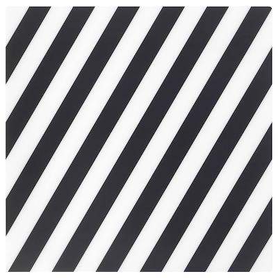 PIPIG Place mat, striped/black/white, 37x37 cm