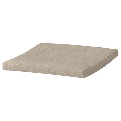 POÄNG Footstool cushion, Hillared beige