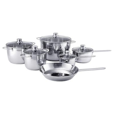 POLERAD 11-piece cookware set, stainless steel