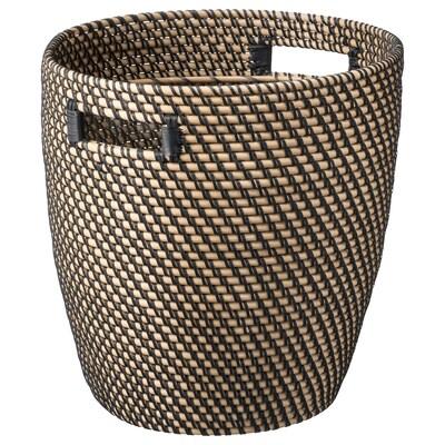 RÅGKORN Plant pot, in/outdoor natural, 32 cm