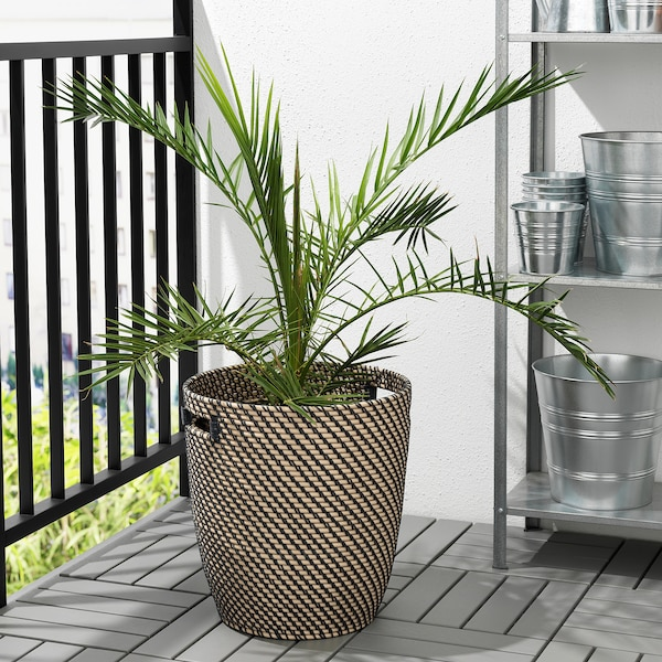 RÅGKORN Plant pot, in/outdoor natural, 32 cm