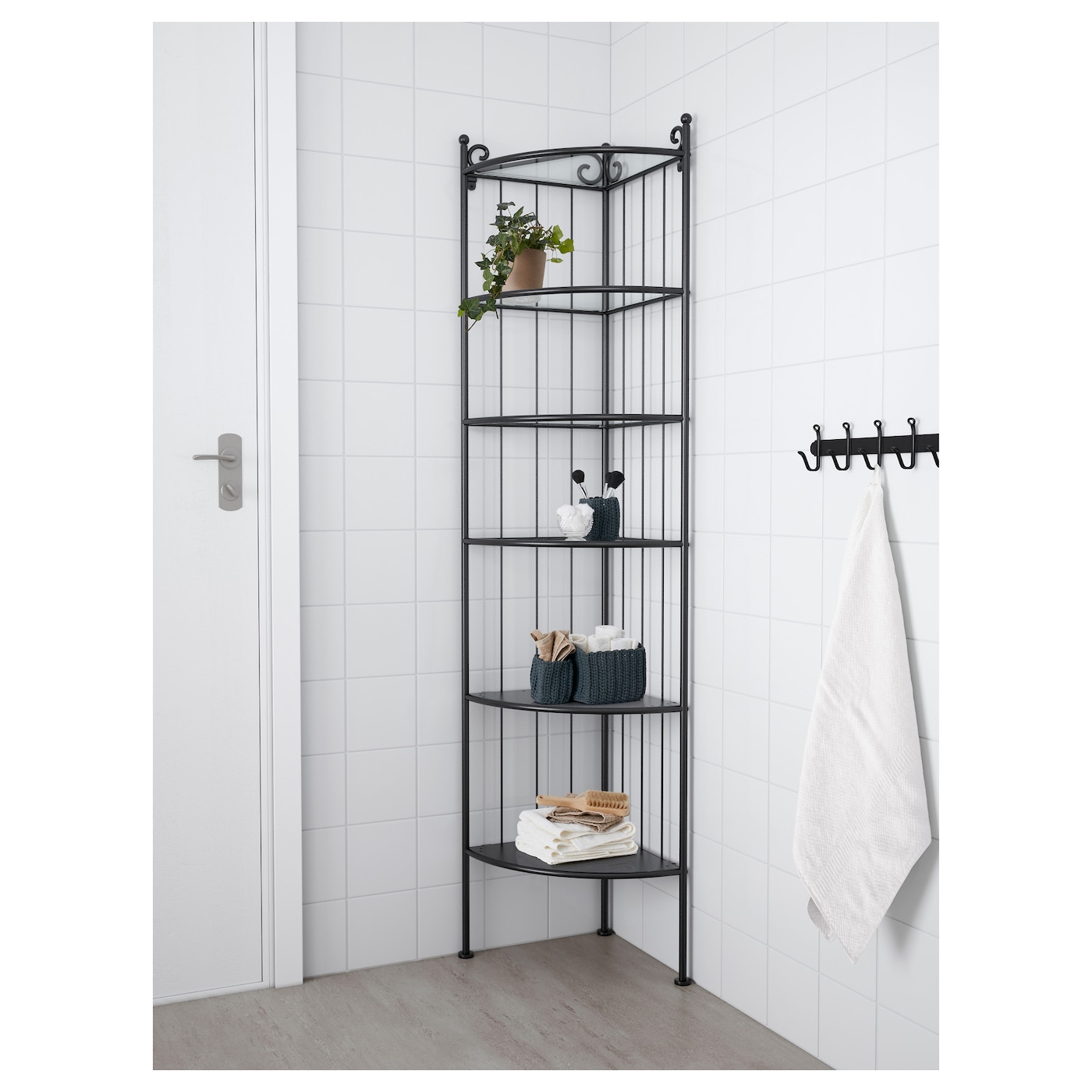 Ronnskar Corner Shelf Unit Black Ikea