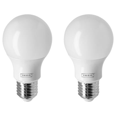 RYET LED bulb E26 800 lumen, globe/opal white