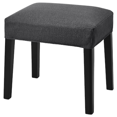 SAKARIAS Stool, black/Sporda dark grey