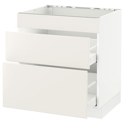 SEKTION Base cab f hob/3 fronts/2 drawers