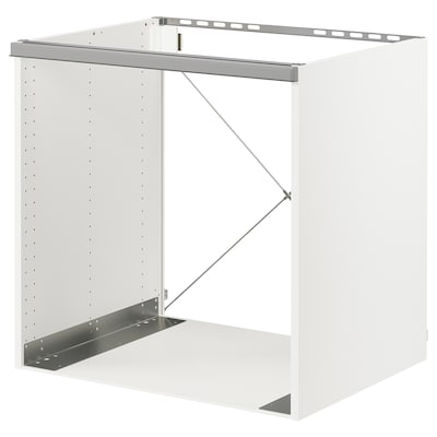 SEKTION Base cabinet for oven, white/Bodbyn grey, 76x61x76 cm