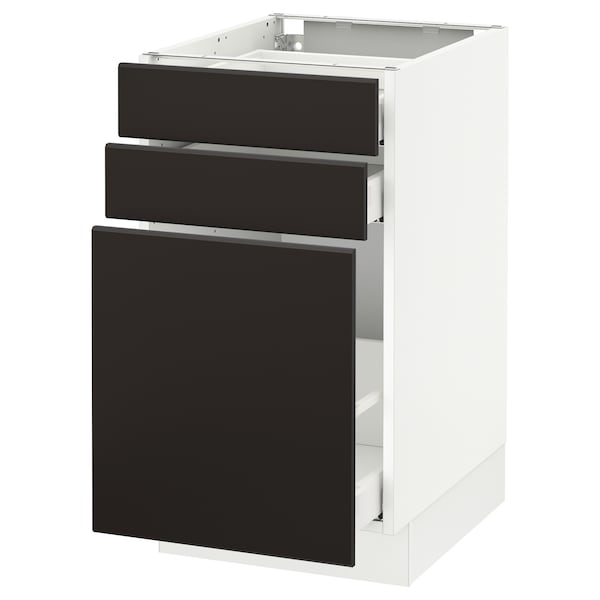 SEKTION Base cabinet/p-out storage/2 drwrs
