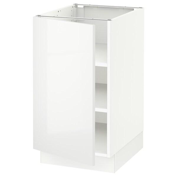 SEKTION Base cabinet with shelves, white/Ringhult white, 46x61x76 cm