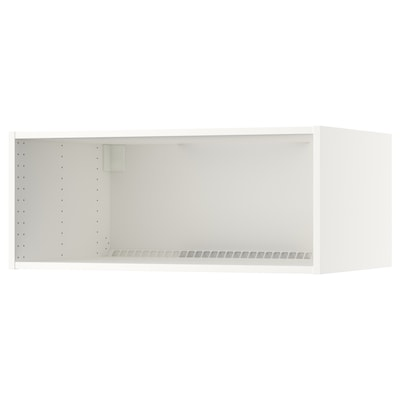 SEKTION Fridge/freezer top cabinet frame, white, 91x61x38 cm