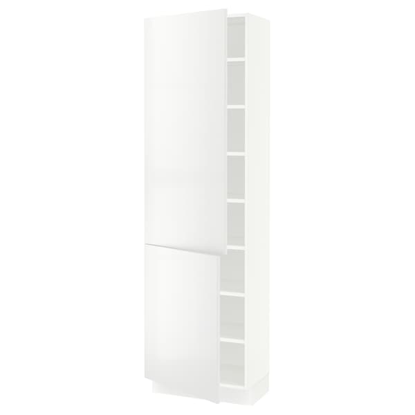 SEKTION High cabinet with shelves/2 doors, white/Ringhult white, 61x37x203 cm