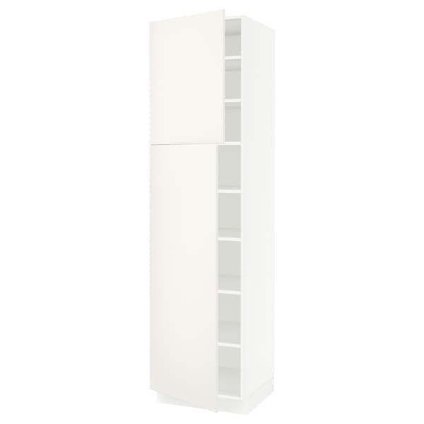 SEKTION High cabinet with shelves/2 doors, white/Veddinge white, 61x61x229 cm