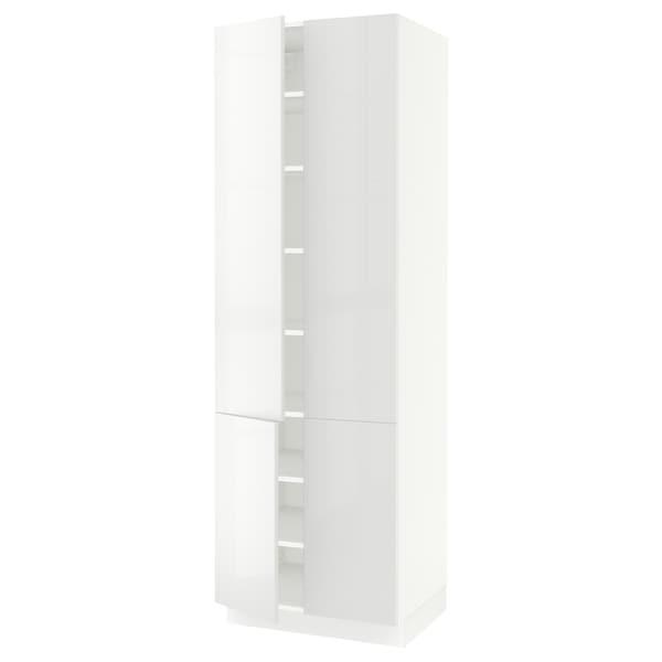 SEKTION High cabinet with shelves/4 doors, white/Ringhult white, 76x61x229 cm
