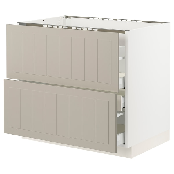 SEKTION / MAXIMERA Base cab f hob/2 fronts/3 drawers