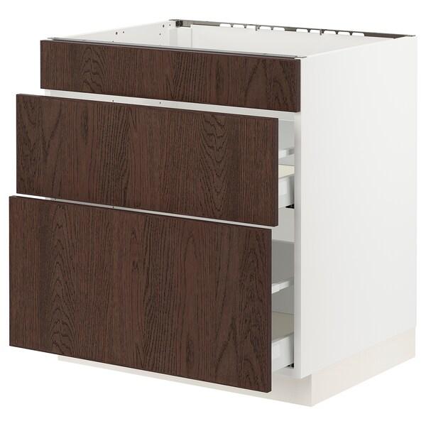 SEKTION / MAXIMERA Base cab f hob/3 fronts/2 drawers