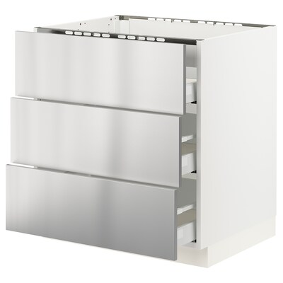 SEKTION / MAXIMERA Base cab f hob/3 fronts/3 drawers
