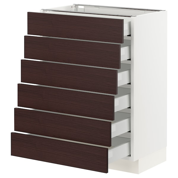 SEKTION / MAXIMERA Base cabinet 6 fronts/6 low drawers