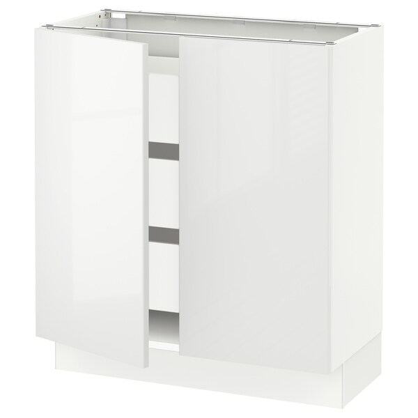 SEKTION / MAXIMERA Base cabinet w 2 doors/3 drawers