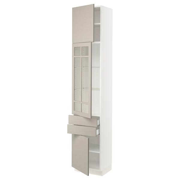 SEKTION / MAXIMERA Hi cb w glass dr/2 drwrs/2 doors