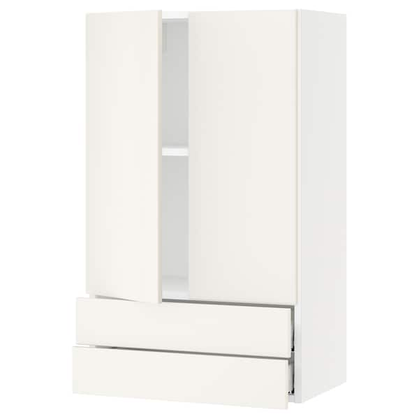 SEKTION / MAXIMERA Wall cabinet w 2 doors/2 drawers