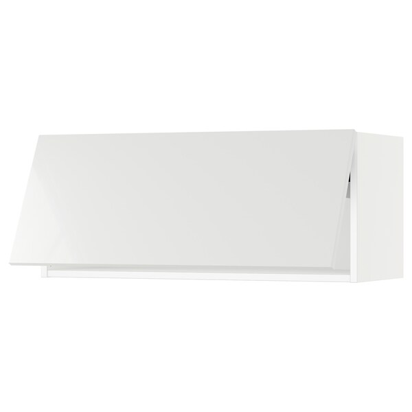 SEKTION Wall cabinet horizontal w push-open, white/Ringhult white, 91x37x38 cm