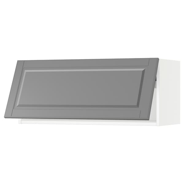 SEKTION Wall cabinet horizontal, white/Bodbyn grey, 91x37x38 cm