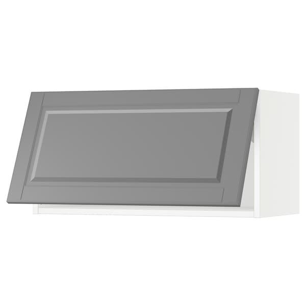 SEKTION Wall cabinet horizontal, white/Bodbyn grey, 76x37x38 cm