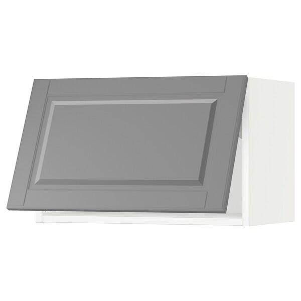 SEKTION Wall cabinet horizontal, white/Bodbyn grey, 61x37x38 cm