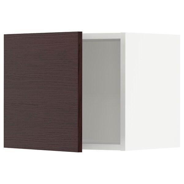 SEKTION Wall cabinet, white Askersund/dark brown ash effect, 46x37x38 cm