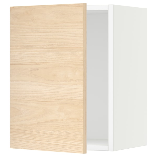 SEKTION Wall cabinet, white/Askersund light ash effect, 38x37x51 cm