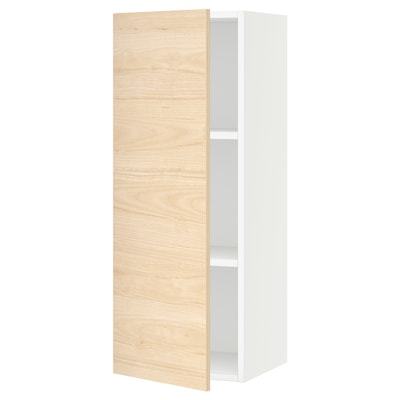 SEKTION Wall cabinet, white/Askersund light ash effect, 38x37x102 cm