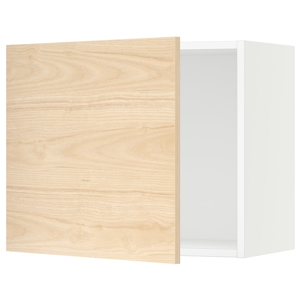 SEKTION Wall cabinet, white/Askersund light ash effect, 61x37x51 cm