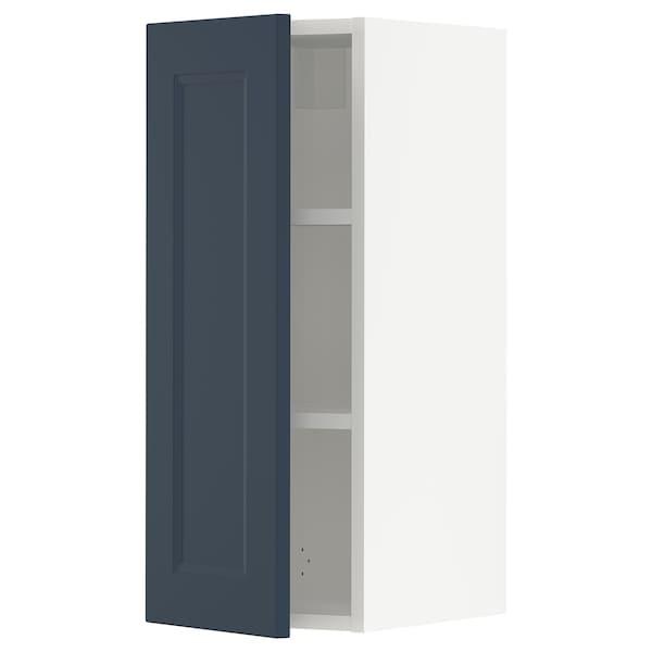 SEKTION Wall cabinet, white Axstad/matt blue, 31x37x76 cm