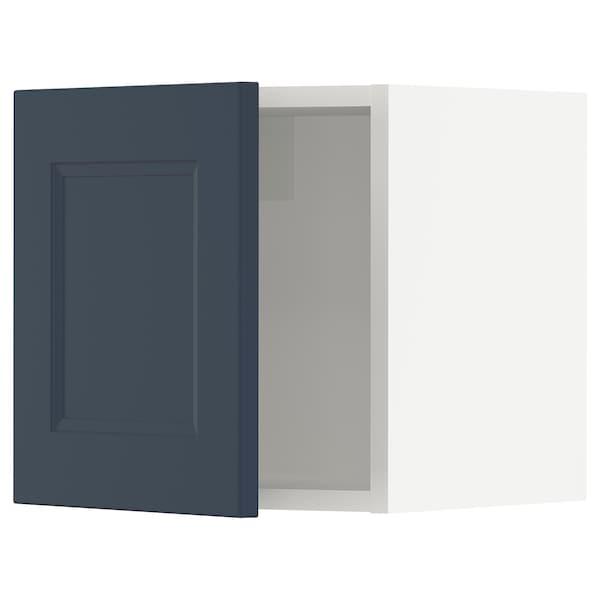 SEKTION Wall cabinet, white Axstad/matt blue, 38x37x38 cm