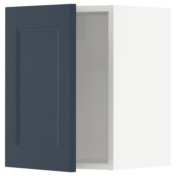 SEKTION Wall cabinet, white Axstad/matt blue, 38x37x51 cm
