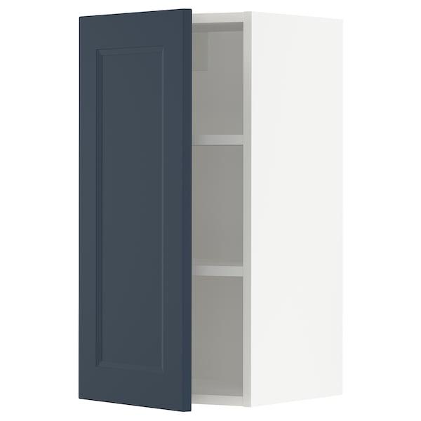 SEKTION Wall cabinet, white Axstad/matt blue, 38x37x76 cm