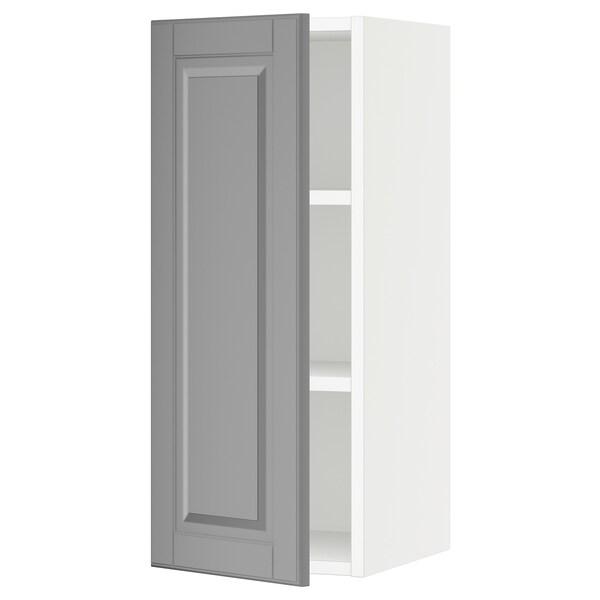 SEKTION Wall cabinet, white/Bodbyn grey, 31x37x76 cm
