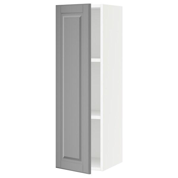 SEKTION Wall cabinet, white/Bodbyn grey, 31x37x102 cm