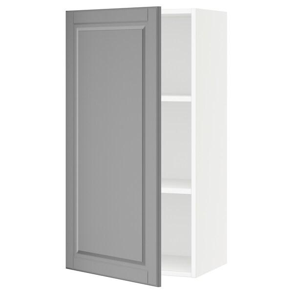 SEKTION Wall cabinet, white/Bodbyn grey, 53x38x102 cm