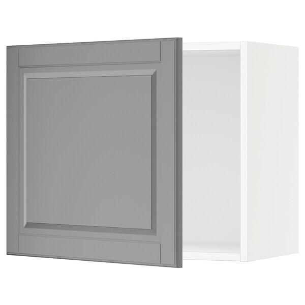 SEKTION Wall cabinet, white/Bodbyn grey, 61x37x51 cm