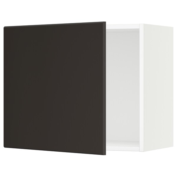 SEKTION Wall cabinet, white/Kungsbacka anthracite, 61x37x51 cm
